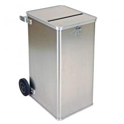 Datenentsorgungs-Behälter aus Aluminium, Inhalt 240 Liter, LxBxH 575x690x1010 mm, Gewicht 16 kg
