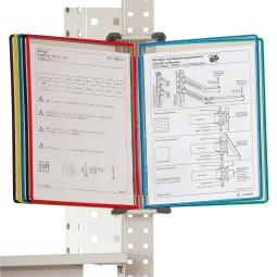 Dokumenten-Träger-System, DIN A4 Format, für max. 20 Tafeln, lichtgrau
