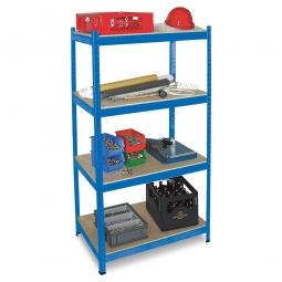 Fachbodenregal für schwere Lasten, 4 Böden, Stecksystem, Tragkraft 265 kg/Boden, BxTxH 900 x 400 x 1800 mm, kunststoffbeschichtet