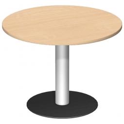 Rundtisch, Tischplatte Ahorn ØxH 1000 x 720 mm
