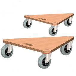Dreieck-Transportroller, Tragkraft 200 kg, LxBxH 540x540x145 mm,  Paket = 2 Transportroller