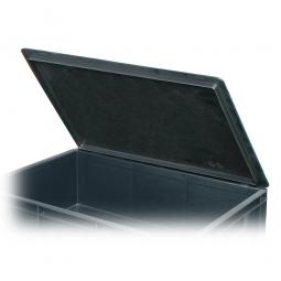 Scharnierdeckel für leitfähige Stapelbehälter, LxB 600 x 400 mm, schwarz