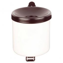 Sicherheits-Wandascher, Inhalt 0,6 Liter, ØxH 90x100 mm, Stahlblech, kunststoffbeschichtet, weiß