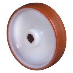 Spritzguß-Polyurethanrad, Rad-ØxB 80x28 mm, Tragkraft 100 kg