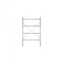 Aluminiumregal mit 4 geschlossenen Regalböden, Stecksystem, BxTxH 1000 x 600 x 1600 mm, Nutztiefe 540 mm