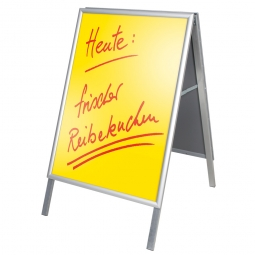 Plakatständer Classic, Format DIN A1, wasserdicht, Ideal für Plakate, Alu-silberfarbig