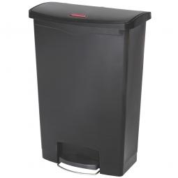 Tretabfalleimer SlimJim, 90 Liter, schwarz, BxTxH 570x353x826 mm, Polyethylen, Pedal an der Breitseite