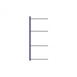Fachboden-Steck-Anbauregal, kunststoffbeschichtet, HxBxT 2000x835x415 mm, mit 4 Fachböden