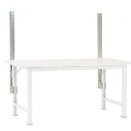 Seitenholme für Pack- und Beistelltisch, lichtgrau, Länge 1200 mm, Profilstahl 60x55 mm, VE = 2 Stück