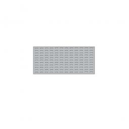 System-Schlitzplatte BxHxT 1000x450x18 mm, Aus 1,25 mm Stahlblech, kunststoffbeschichtet in lichtgrau