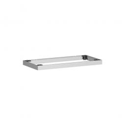 Metallsockel, alusilber, BxH 800x50 mm, mit Bodenausgleichsfüßen