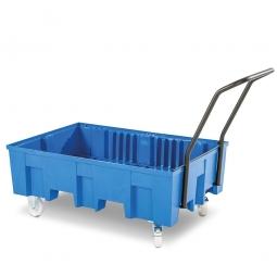 Fahrbare Auffangwanne ohne Gitterrost, PE, Auffangvolumen 220 Liter