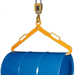 Scherengreifer für Metallfässer, orange lackiert, LxBxH 1020x100x450 mm