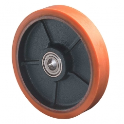 Polyurethanrad, Rad-ØxB 125x30 mm, Tragkraft 300 kg, rot