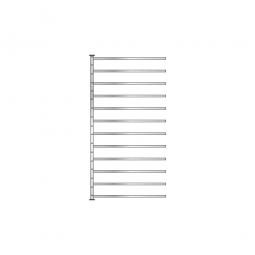Fächer-Steck-Anbauregal, 400 mm tief, BxTxH 1035 x 400 x 2000 mm, mit 12 Fachböden