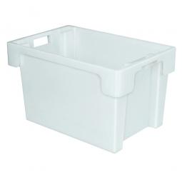 Drehstapelbehälter, LxBxH 600x400x350 mm, weiß, Boden und Wände geschlossen