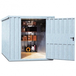 Systemcontainer, BxTxH 2350x1950x2195 mm, verzinkt, Lieferung aufstellfertig