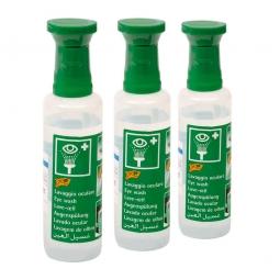 Augenspüllösung, Inhalt 250 ml, Natriumchloridlösung 0,9%, mit Augenaufsatz, VE=3 Flaschen