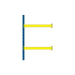 Paletten-Anbauregal mit 2 Paar Tragbalken für 6 Europaletten, Tragkraft 3100 kg/Tragbalkenpaar, BxTxH 1885 x 1100 x 3000 mm