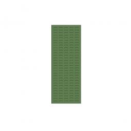 System-Schlitzplatte BxHxT 450x1200x18 mm, Aus 1,25 mm Stahlblech, kunststoffbeschichtet in resedagrün