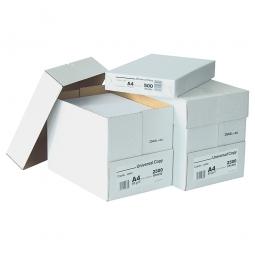 Universalpapier DIN A4, Gewicht 80g/qm, 1 VE=2 Karton mit je 5 Paketen á 500 Einzelblatt (=5000 Blatt)