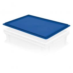 Auflagedeckel für Euro-Stapelbehälter, LxB 400x300 mm, blau, Gewicht 450 g