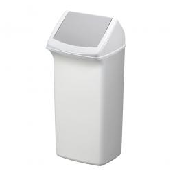 Abfall- und Wertstoffsammler mit Schwingdeckel, BxTxH 366 x 320 x 747 mm, 40 Liter, grau