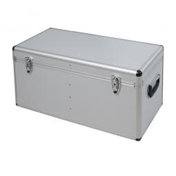 Alurahmen-Transportbox, Inhalt 65 Liter, LxBxH 680x310x320 mm, abschließbar, Farbe silber