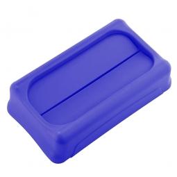 Schwingdeckel für Abfallbehälter, blau, BxTxH 294x523x127 mm, aus stoßfestem Kunststoff