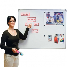 Whiteboard 1200x900 mm, Inklusive Boardmarker-Stift und 8 Magnete