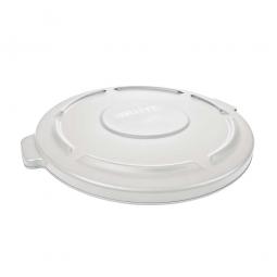 Deckel für Mehrzweckbehälter 121 Liter, weiß, Ø 560 mm, Polyethylen-Kunststoff (PE)