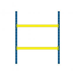 Palettenregal mit 2 Paar Tragbalken für 9 Europaletten, Tragkraft 4600 kg/Tragbalkenpaar, BxTxH 2925 x 1100 x 3500 mm