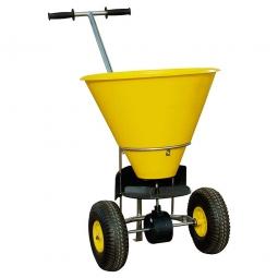 Streuwagen, Inhalt 35 L, gelb, für mittlere Streuflächen, 3 Streustufen, Streubreite bis 4 m