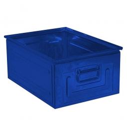 Stapelkasten ST0 aus Stahlblech, 80 Liter, LxBxH 630 x 450 x 300 mm, blau
