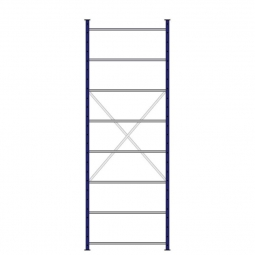 Ordner-Steck-Grundregal, einseitige Ausführung, HxBxT 3000x1070x315 mm, Oberfläche kunststoffbeschichtet