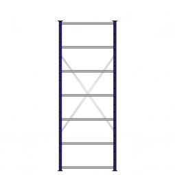 Fachbodenregal mit 7 Böden, Stecksystem, Grundregal, einseitige Ausführung, BxTxH 870 x 315 x 2300 mm, Oberfläche kunststoffbeschichtet