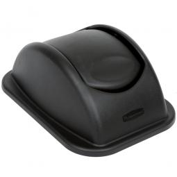 Schwingdeckel zu Papierkorb, schwarz, LxBxH 385x280x505 mm, Polyethylen