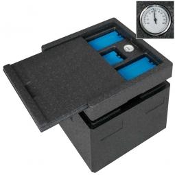 Kühlschiebeaufsatz für Thermobox LxB 410x410 mm, Hergestellt aus expandierbarem Polypropylen (EPP)