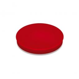 Haftmagnete, rot, Durchmesser 24 mm, Haftkraft 300 g, Paket=10 Magnete