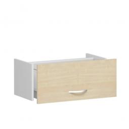 Hängeregistraturschublade FLEX, Ahorn, Breite 800 mm, hochwertige Metallgriffe in silbermatt