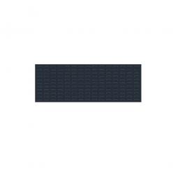 System-Schlitzplatte BxHxT 1200x450x18 mm, aus 1,25 mm Stahlblech, kunststoffbeschichtet in anthrazitgrau