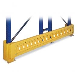 Leitplanke für 1100 mm Regaltiefe, LxHxT 1280x400x60 mm, mit Pfostenschutz u. Befestigungsmaterial