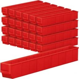 "Regalkasten-Set ""Profi"", 24-teilig, rot, LxBxH 500 x 91 x 81 mm, Polypropylen-Kunststoff (PP)"