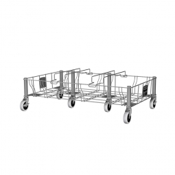 """""""Slim Jim""""  Rollwagen aus Edelsathl, dreifach, BxTxH 825 x 508 x 228 mm"""