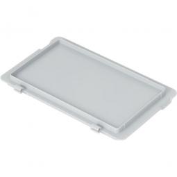 Scharnierdeckel für Euro-Stapelbehälter, 300 x 200 mm, Farbe grau