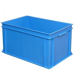 Eurobehälter mit 2 Griffleisten, LxBxH 600 x 400 x 320 mm, 63 Liter, blau