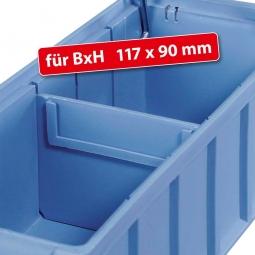 Querteiler für Regalkästen FUTURA, BxH 117 x 90 mm, blau