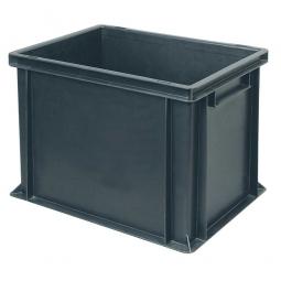 Leitfähiger Stapelbehälter, 2 Griffleisten, LxBxH 400 x 300 x 320 mm, 31 Liter, schwarz