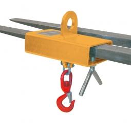 Lasthaken mit Wirbellasthaken, LxBxH 300 x 180 x 325 mm, Tragkraft 1000 kg, orange