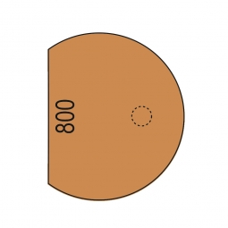 Anbautisch mit Stützfuß, Buche-Dekor, BxT 800x1000 mm